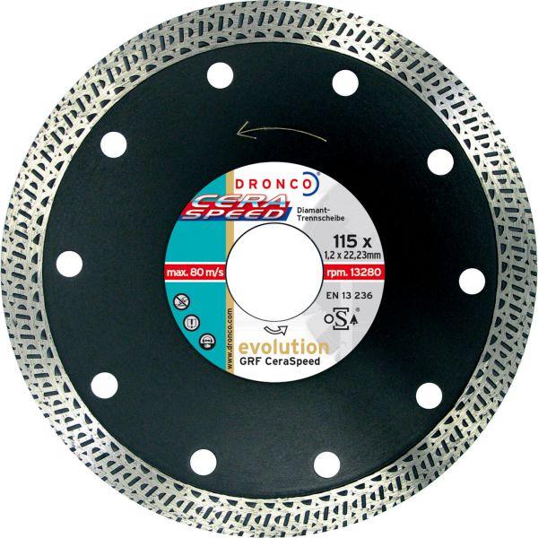 Diamant-Trennscheibe GRF Ceraspeed evolution 115 x 1,4 x 22,23 mm