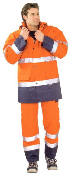 Warnschutz Parka orange, marine Gr. S