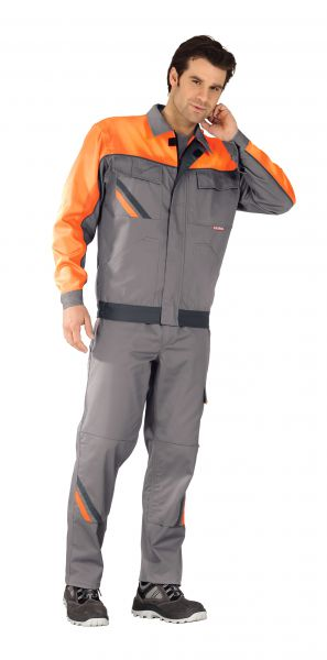 Bundjacke VISLINE1 zink, orange, schiefer Gr. 24