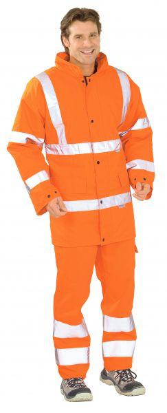 Warnschutz Parka uni orange Gr. S