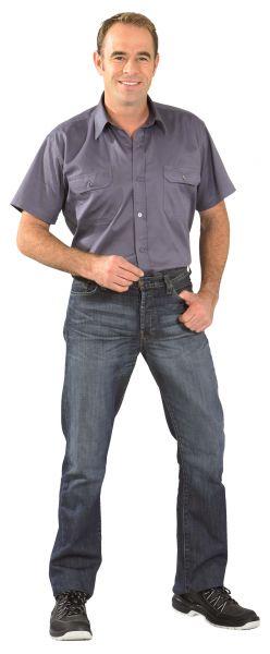 Köper-Hemd 1, 4 Arm grau Gr. 37, 38