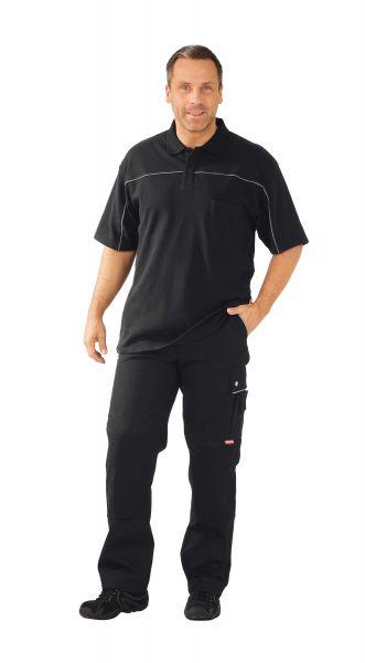 Polo-Shirt schwarz ,  zink, Größe XS