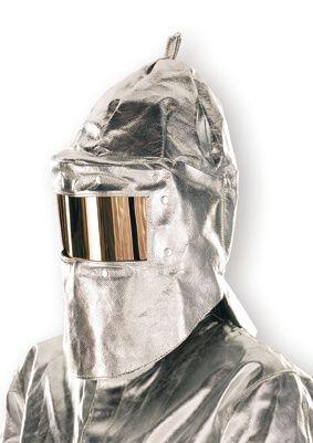 Hitzeschutzhaube für Scheibe 10 x 22 cm,Hals-, Nackenschutz,500 g, m²,bis 1000°C