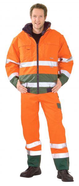 Warnschutz Comfortjacke orange, grün Gr. S