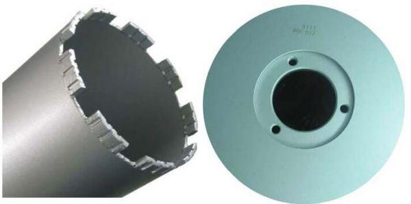 Diamant-Kernbohrkrone 3-Loch 112 mm