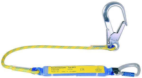 Verbindungsmittel mit Bandfalldämpfer, Seil, Karabiner AXS 10 TR, FS 90, 1,5 m