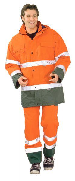 Warnschutz Parka orange, grün Gr. S