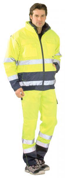 Warnschutz Comfortjacke gelb, marine Gr. S