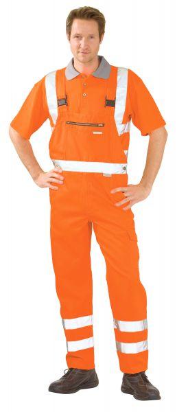 Warnschutz Latzhose uni orange Gr. 24