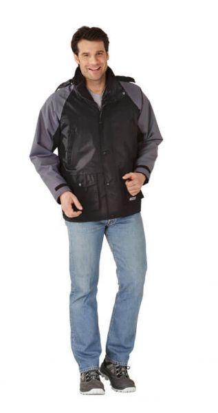 System Jacke schwarz, grau Gr. S