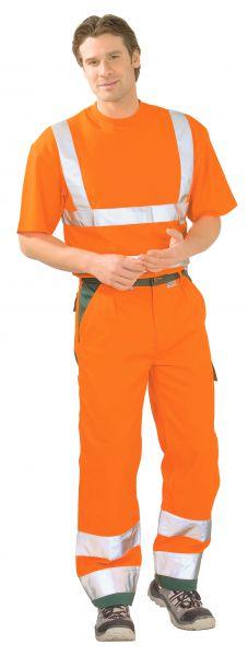Warnschutz Bundhose orange, grün Gr. 24