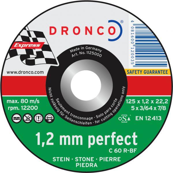 Freihand Trennscheiben Stein C 60 R perfect express 115 x 1,2 x 22,23 mm