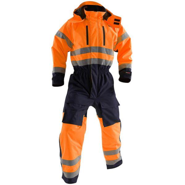 High VIS Warnschutz-Winteroverall 6763 orange, marineblau Gr. 46