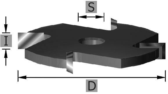 HW-Scheibennutfräser Z4 S8 x 2 mm