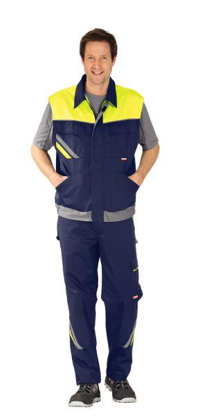 Arbeitsweste VISLINE marine, gelb, zink Gr. XS