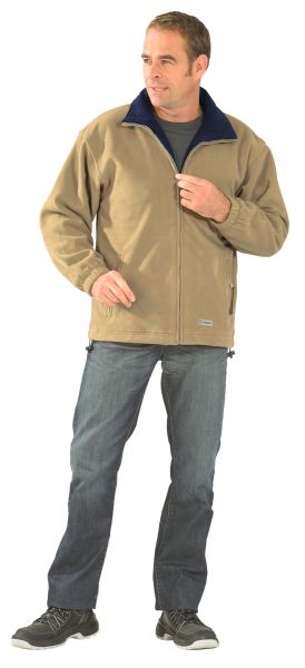 Fleece Jacke Stream camel/marine