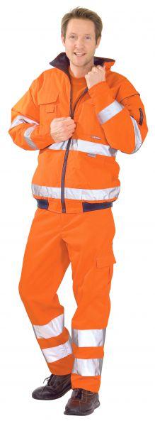 Warnschutz Pilotenjacke uni orange Gr. S