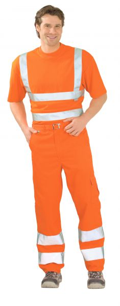 Warnschutz Bundhose uni orange Gr. 24