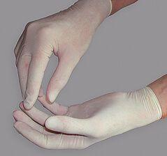 Handschuh Latex gepudert Größe S