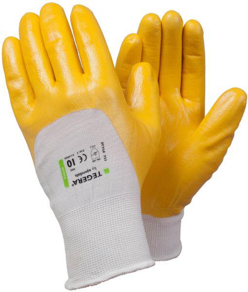 Schutzhandschuhe 722 TEGERA® Basic gelb, weiß, Polyester ,  Nitril, Gr. 7