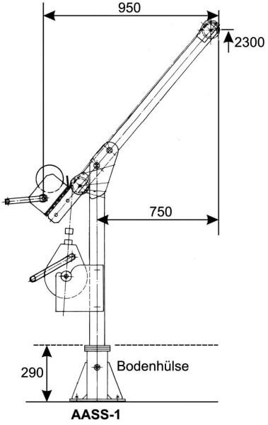 Auslegerarm AASS-1 aus V2A Edelstahl