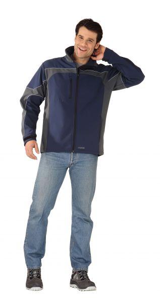 Summit-Softshell Jacke marine, grau Gr. XS