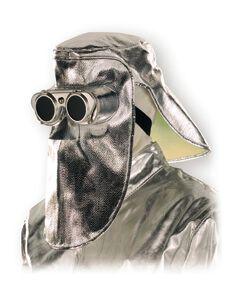 Hitzeschutzmaske mit Klappbrille, für Ohr, Kopf, Gesicht, 500 g/m², bis 1000°C