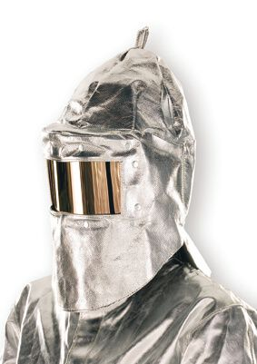 Hitzeschutzhaube für Scheibe 15 x 250 mm,Hals-, Nackenschutz,500 g, m²,bis 1000°C