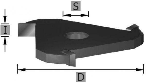 HW-Scheibennutfräser Z3 S8 x 2 mm