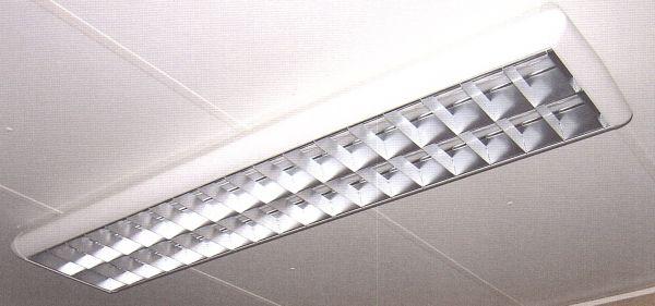 Spiegelrasterleuchten 2 x 36 Watt für Containex Bürocontainer