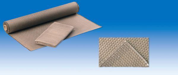 E-Glasgewebe 1000 g, m², Leinwand, texturiert, HT-beschichtet, bis 1150°C, 50 m
