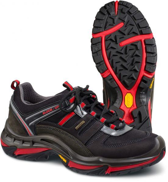 Laufschuhe GRANINGE® Outdoor schwarz, rot, Nubuk, Cordura, Gr. 36