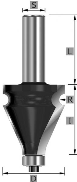 HW-Handlauf-Fräser Z2, Profil 1, S12 x 84 mm