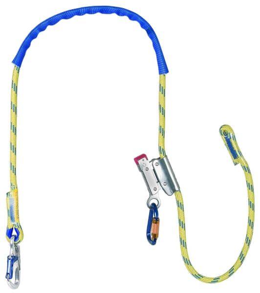 Verbindungsmitter für Haltegurte ASK 4 m. Seil, -kürzer, Karabiner AXK 10, 1,5 m
