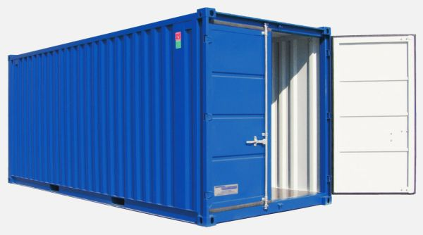 Lagercontainer LC 20', Enzianblau