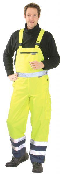 Warnschutz Regen-Latzhose gelb, marine Gr. S