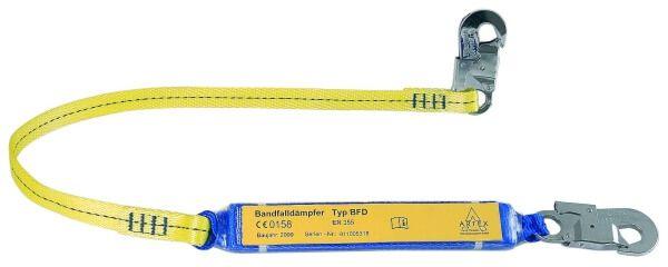 Verbindungsmittel mit Bandfalldämpfer, Gurtband, Karabiner FS 51 ,  FS 51, 1,5 m