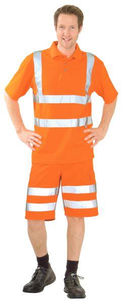 Warnschutz Polo-Shirt uni orange Gr. S