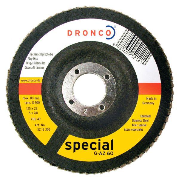 Fächerschleifscheiben Zirkonkorund G-AZ special K40, gerade, 115 x 22,23 mm