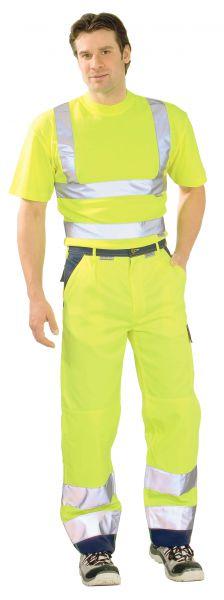 Warnschutz Bundhose gelb, marine Gr. 24