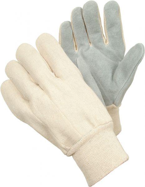 Lederhandschuhe 2175 TEGERA Basic, Rindspaltleder, elastisches Bündchen, Gr. 8