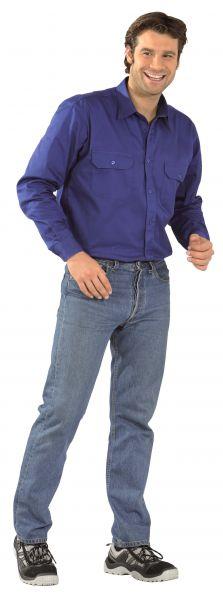 Köper-Hemd 1, 1 Arm dunkelblau Gr. 37, 38