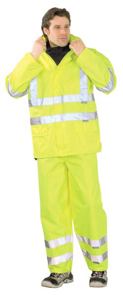 Warnschutz Regenjacke uni gelb Gr. S