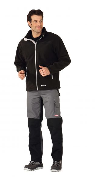 Retro-Fleece Jacke schwarz Gr. XS