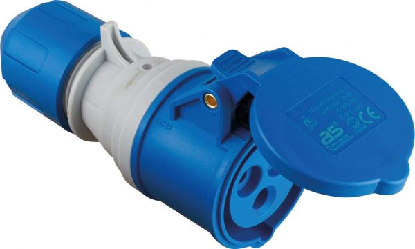 CEE-Kupplung 230V/16A, blau powerlight