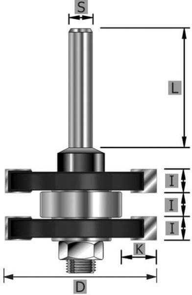HW-Nut- und Federgarnitur Z2, mit Kugellager, S8 x 58 mm