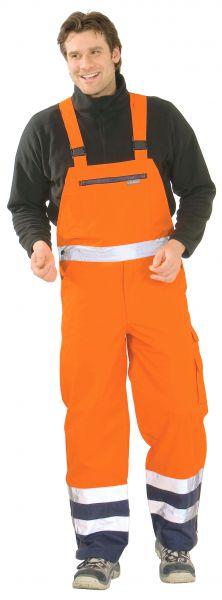 Warnschutz Regen-Latzhose orange, marine Gr. S