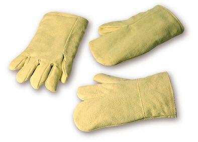 Hitzeschutzhandschuh ARAMID-Gewebe, bis 550°C, 3-Finger