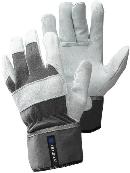 Lederhandschuhe 680 TEGERA Classic, Ziegennarbenleder, Stulpe, Gr. 8