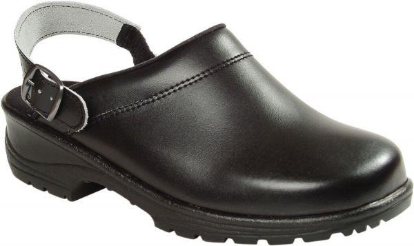 Clog EJENDALS schwarz, PU-beschichtetes Leder, Gr. 35